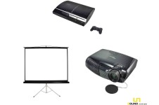 Bundle Beamer 1 & Leinwand klein & PS3